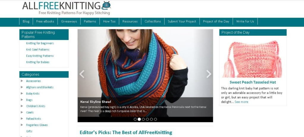 Best Knitting Pattern Websites - Allfreeknitting