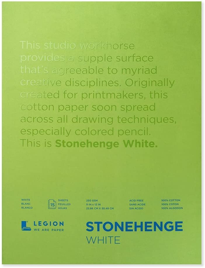 Legion Stonehenge Pad, 9 X 12 Inches, White