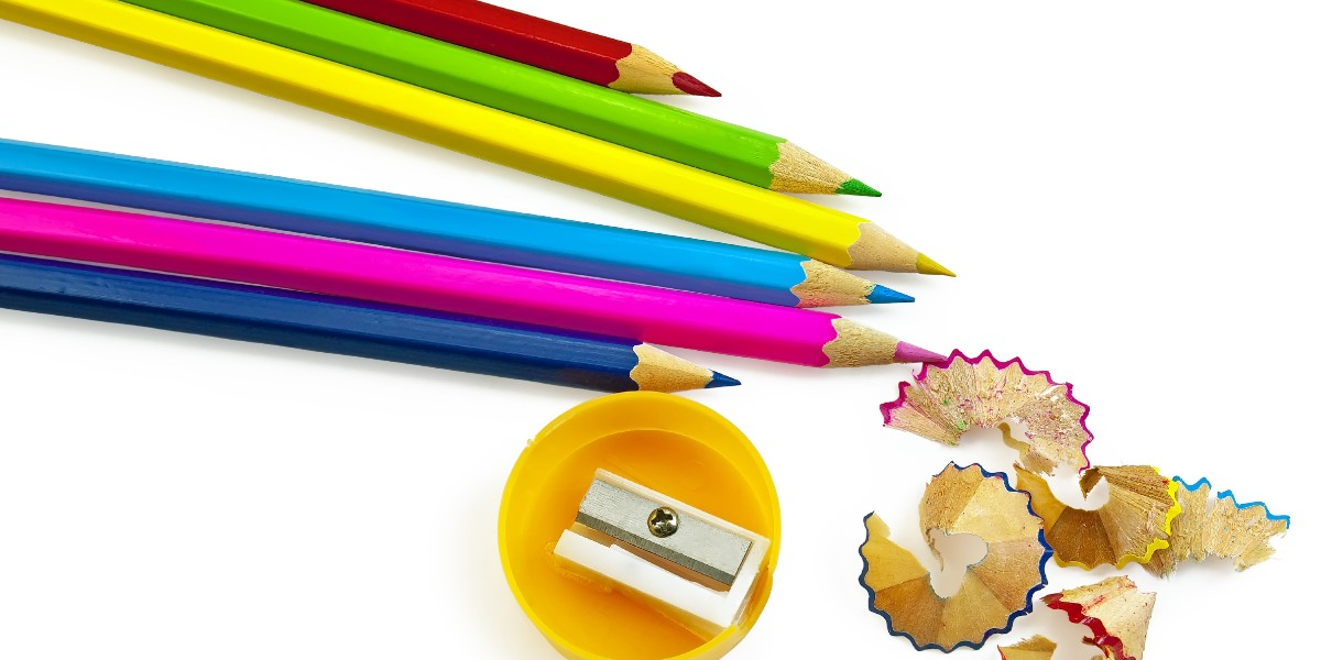 Sharpener for colored pencils